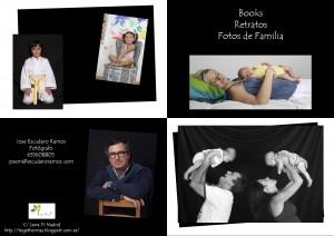 Tarjetón Retratos de Familia